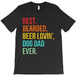 funny bearded dad bearded beer lovin dog dad ever retro vintage T-Shirt | Artistshot