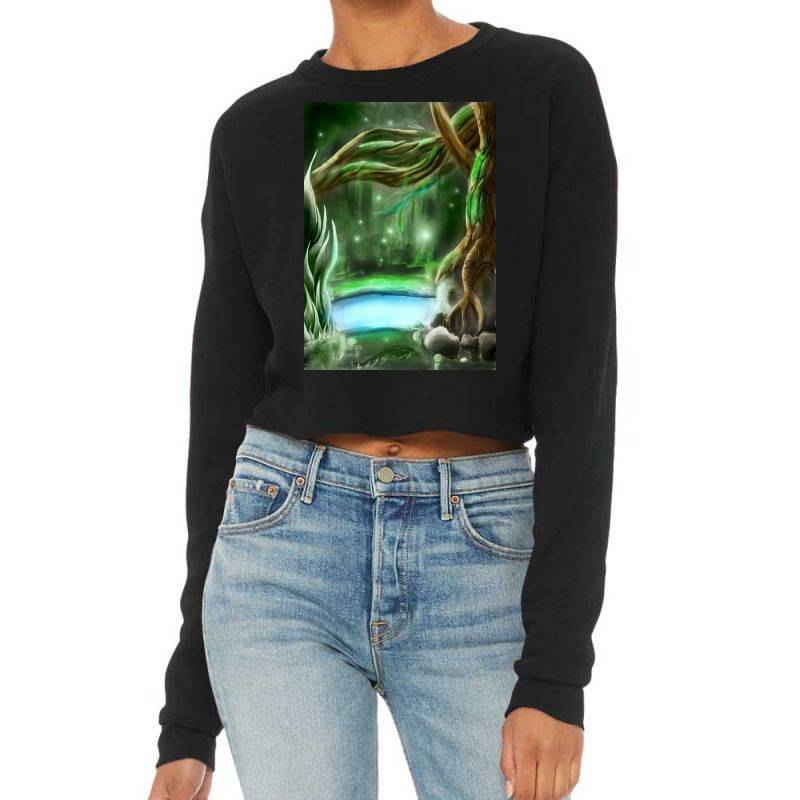 Enchanted Forest Cropped Sweater | Artistshot