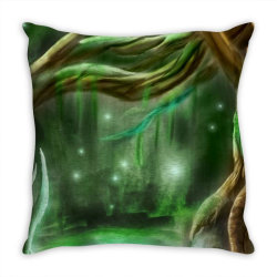 enchanted forest Throw Pillow | Artistshot