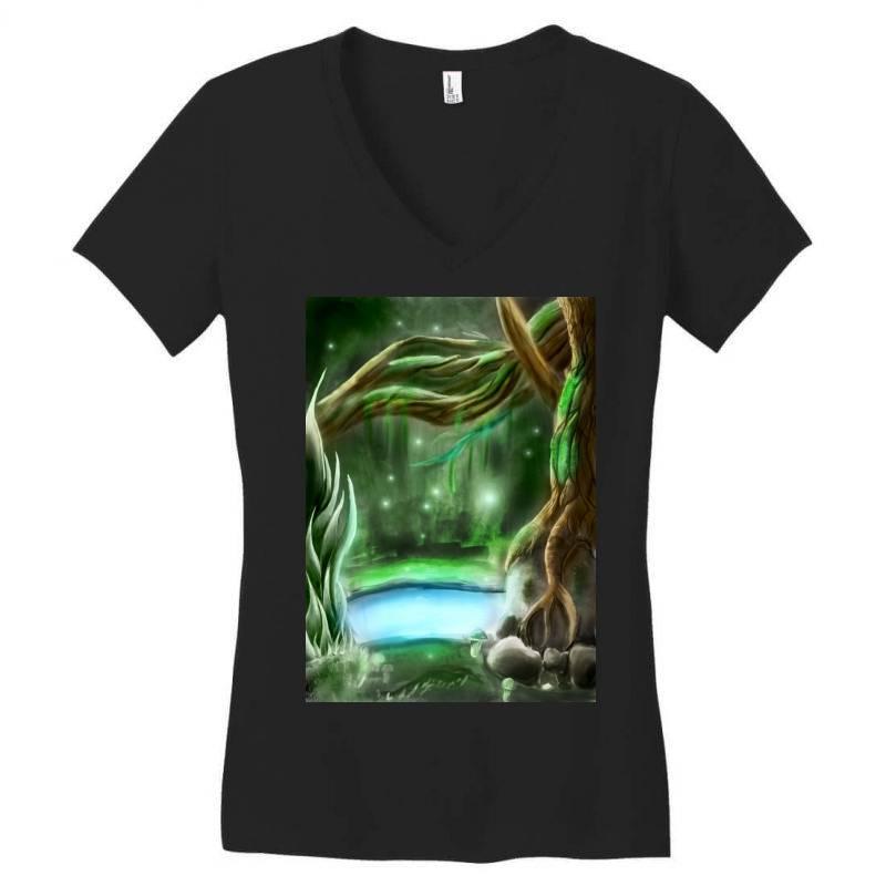 Enchanted Forest Women's V-neck T-shirt | Artistshot