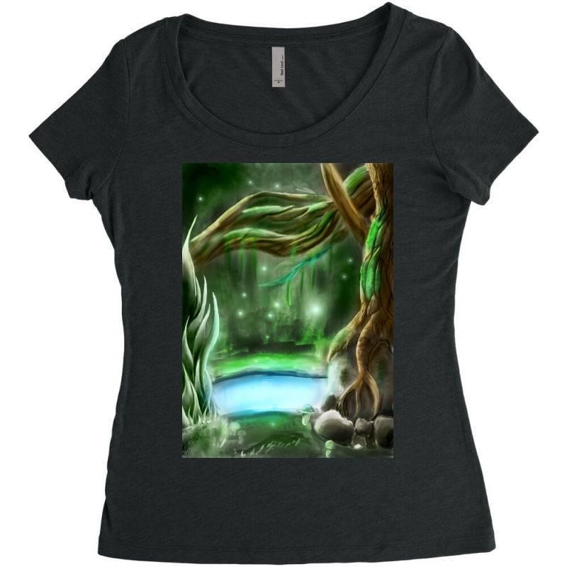 Enchanted Forest Women's Triblend Scoop T-shirt | Artistshot
