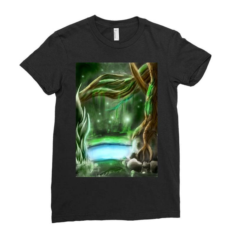 Enchanted Forest Ladies Fitted T-shirt | Artistshot