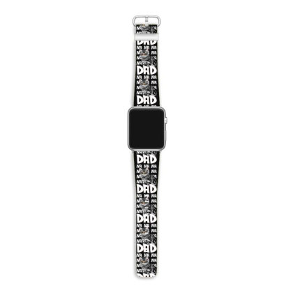 Cat Dad Comic Funny For Fathers Of Cats Apple Watch Band Designed By Hoainv