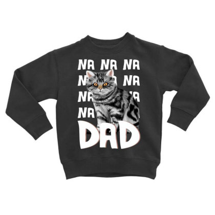 Cat Dad Comic Funny For Fathers Of Cats Toddler Sweatshirt Designed By Hoainv