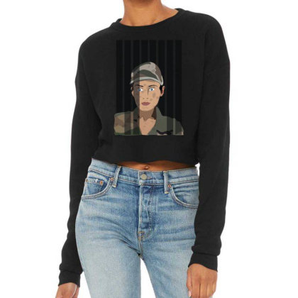 Women Army Cropped Sweater Designed By Rococodesigns