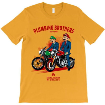 Plumber Brother T-shirt Designed By Spoilerinc