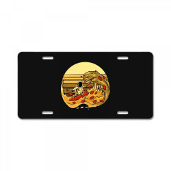 pizza wave License Plate | Artistshot