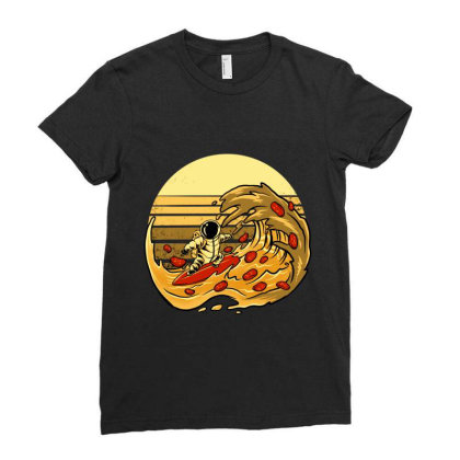 Pizza Wave Ladies Fitted T-shirt Designed By Spoilerinc
