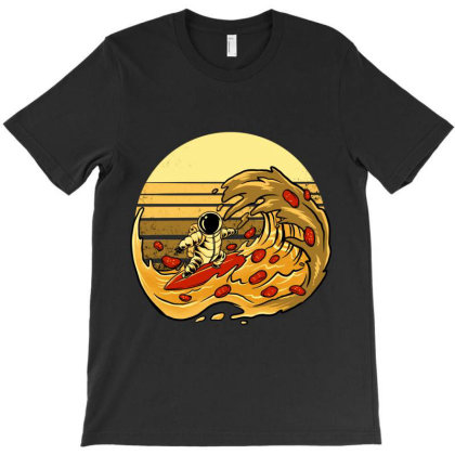 Pizza Wave T-shirt Designed By Spoilerinc