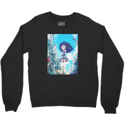 anime Girl under the Sky (Low Poly) Fanart Crewneck Sweatshirt | Artistshot