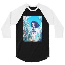 anime Girl under the Sky (Low Poly) Fanart 3/4 Sleeve Shirt | Artistshot