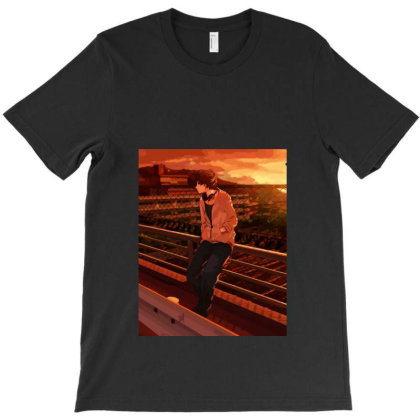 Anime Boy (low Poly Abstract) Fanart T-shirt Designed By Dc47