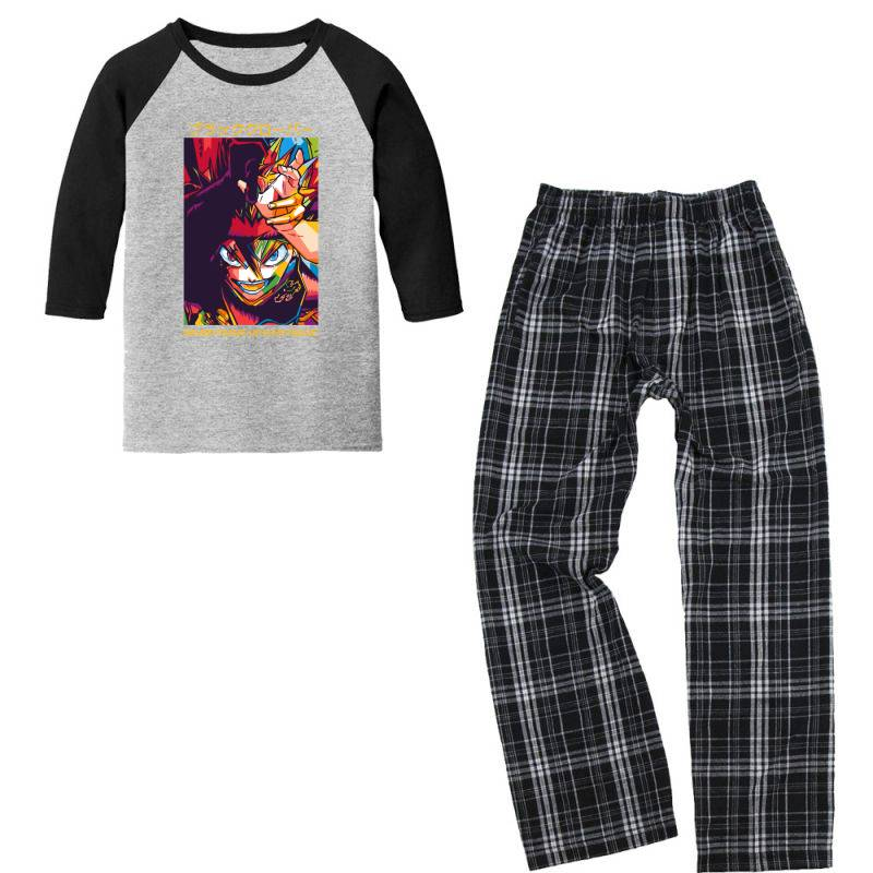 Demon Asta Youth 3/4 Sleeve Pajama Set   Artistshot