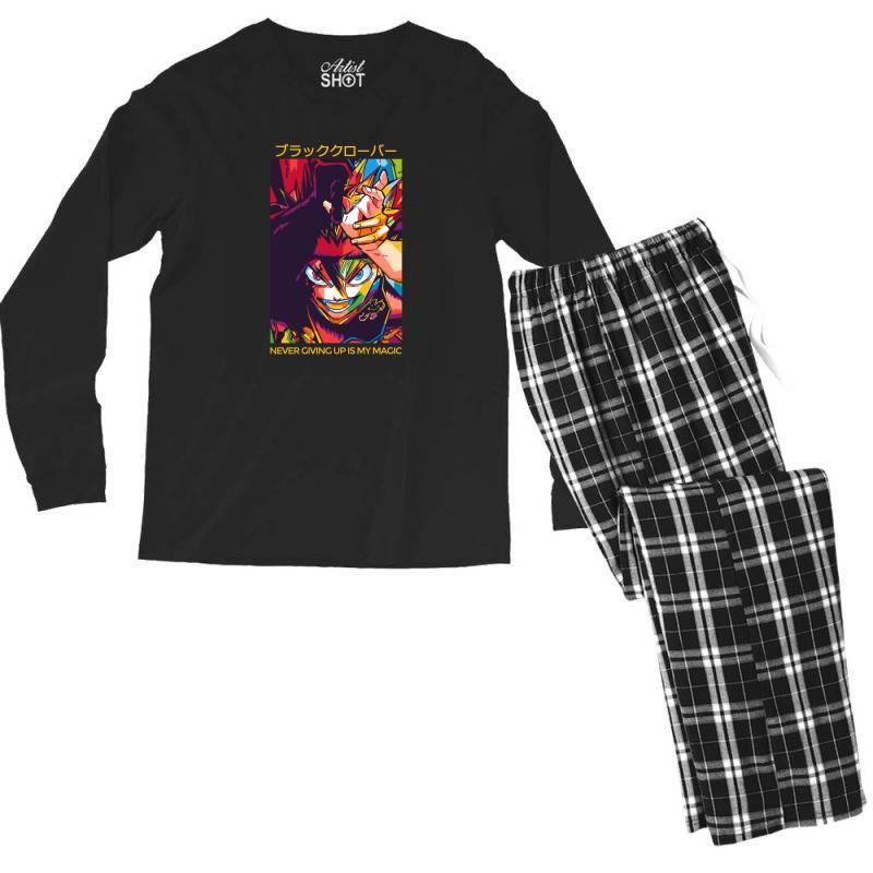 Demon Asta Men's Long Sleeve Pajama Set   Artistshot