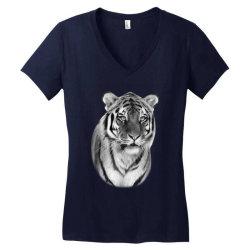 Tiger Women's V-Neck T-Shirt   Artistshot