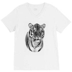 Tiger V-Neck Tee   Artistshot