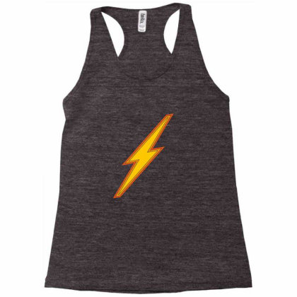 Lightning Bolt Icon Sign Racerback Tank Designed By Alamy