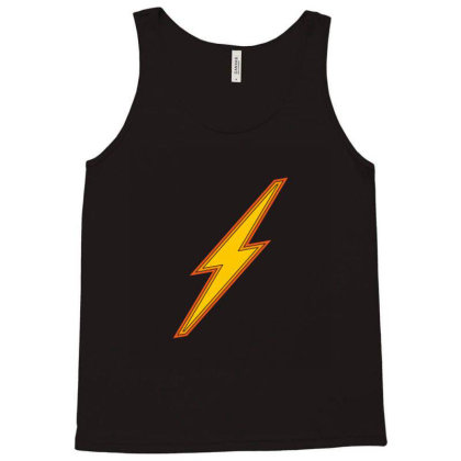 Lightning Bolt Icon Sign Tank Top Designed By Alamy