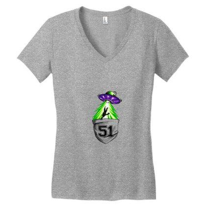Forbidden Area Women's V-neck T-shirt Designed By Spoilerinc