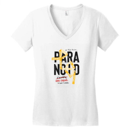 Anti Social Women's V-neck T-shirt Designed By Disgus_thing