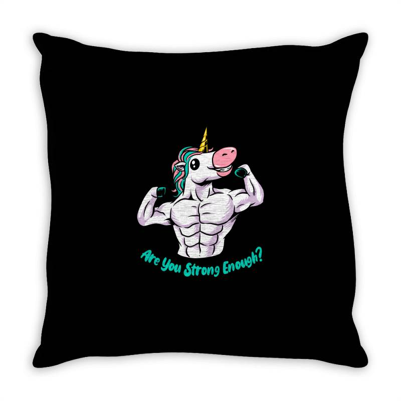Strong Unicorn Throw Pillow   Artistshot