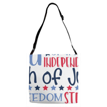4th Of July Subway Art Adjustable Strap Totes Designed By Tiococacola
