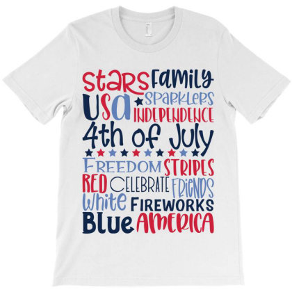 4th Of July Subway Art T-shirt Designed By Tiococacola