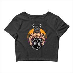 bull gym Crop Top   Artistshot