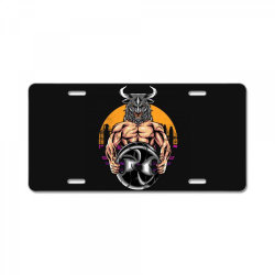 bull gym License Plate | Artistshot