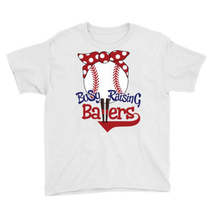 Busy Raising Ballers Youth Tee Designed By Tiococacola