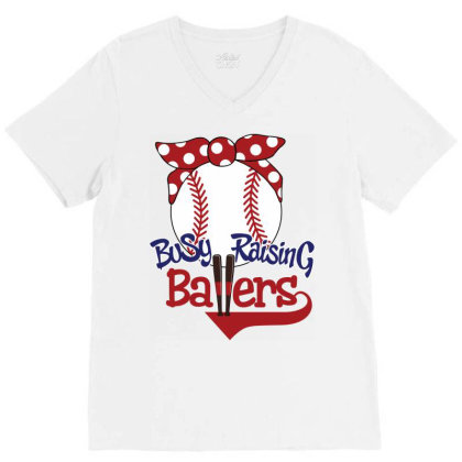Busy Raising Ballers V-neck Tee Designed By Tiococacola