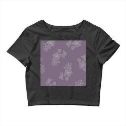 Purple Floral Crop Top | Artistshot