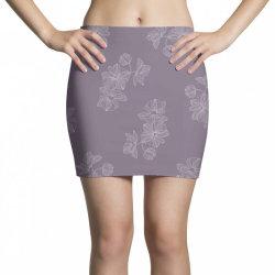 Purple Floral Mini Skirts | Artistshot