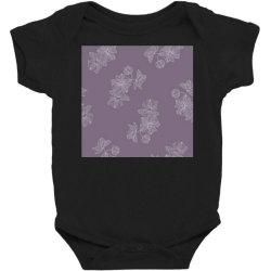 Purple Floral Baby Bodysuit   Artistshot