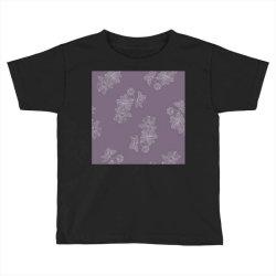 Purple Floral Toddler T-shirt   Artistshot