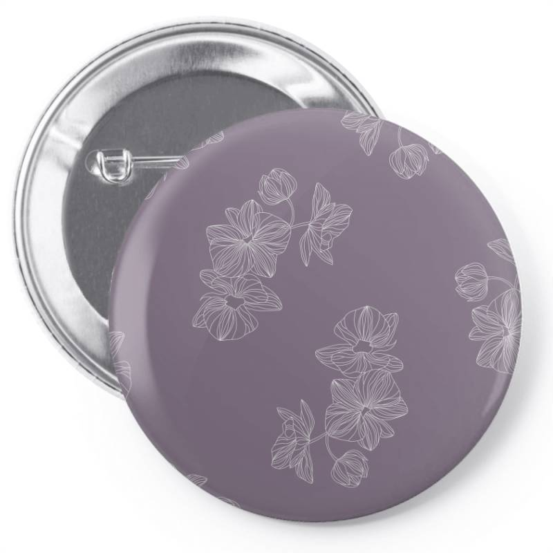 Purple Floral Pin-back Button | Artistshot