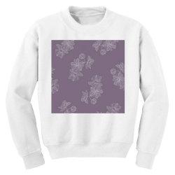 Purple Floral Youth Sweatshirt   Artistshot