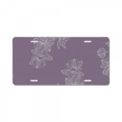 Purple Floral License Plate | Artistshot