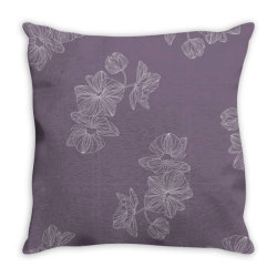 Purple Floral Throw Pillow | Artistshot
