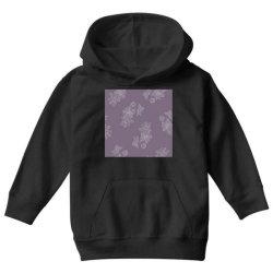 Purple Floral Youth Hoodie   Artistshot