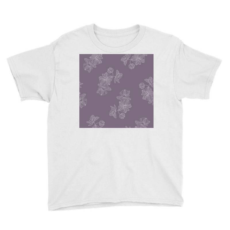Purple Floral Youth Tee   Artistshot