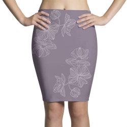 Purple Floral Pencil Skirts | Artistshot