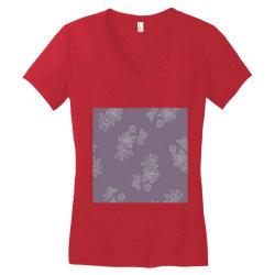 Purple Floral Women's V-Neck T-Shirt | Artistshot