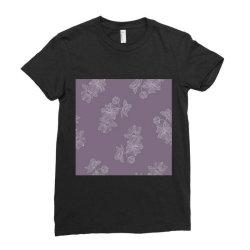 Purple Floral Ladies Fitted T-Shirt | Artistshot