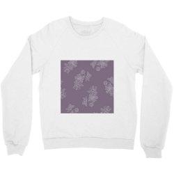 Purple Floral Crewneck Sweatshirt | Artistshot
