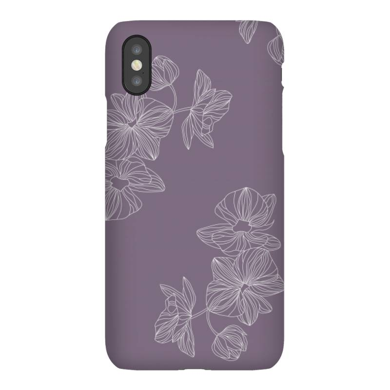 Purple Floral Iphonex Case | Artistshot
