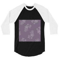 Purple Floral 3/4 Sleeve Shirt | Artistshot