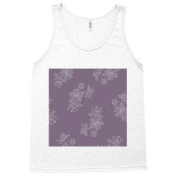 Purple Floral Tank Top | Artistshot