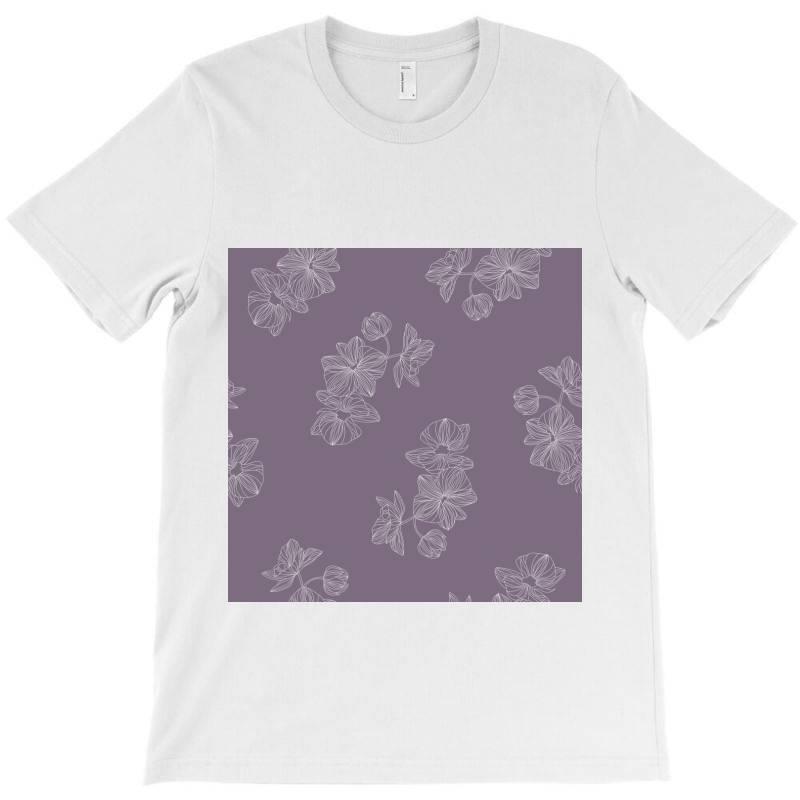 Purple Floral T-shirt | Artistshot