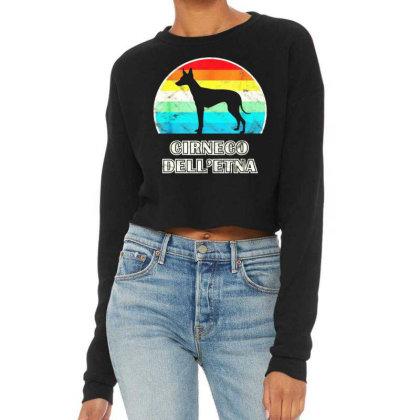 Cirneco Dell Etna Vintage Cropped Sweater Designed By Kakashop